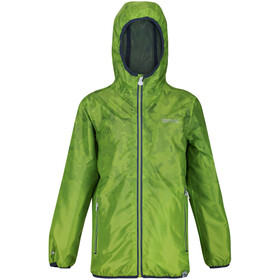 Regatta Printed Lever Waterproof Shell Jacket Kids electric lime